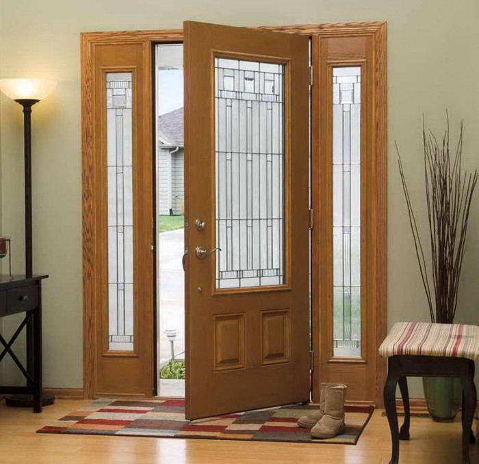 Contemporary-Entry-Doors-With-Floor-Lamps1 It Is Not Just a Front Door, It Is a Gate