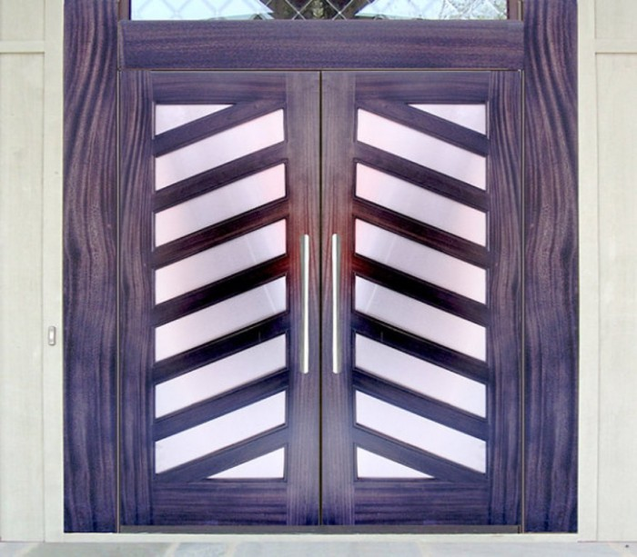 Contemporary-front-doors-with-diagonal-detailing It Is Not Just a Front Door, It Is a Gate