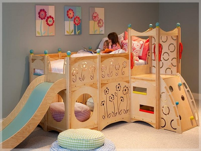 Cool-Kids-Bunk-Beds-for-Girl Make Your Children's Bedroom Larger Using Bunk Beds