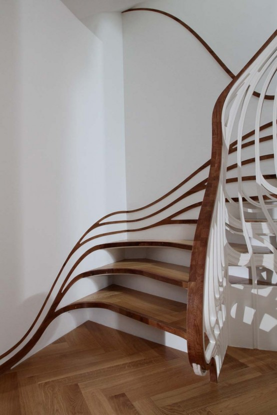 Cool-curved-staircase-design Turn Your Old Staircase into a Decorative Piece