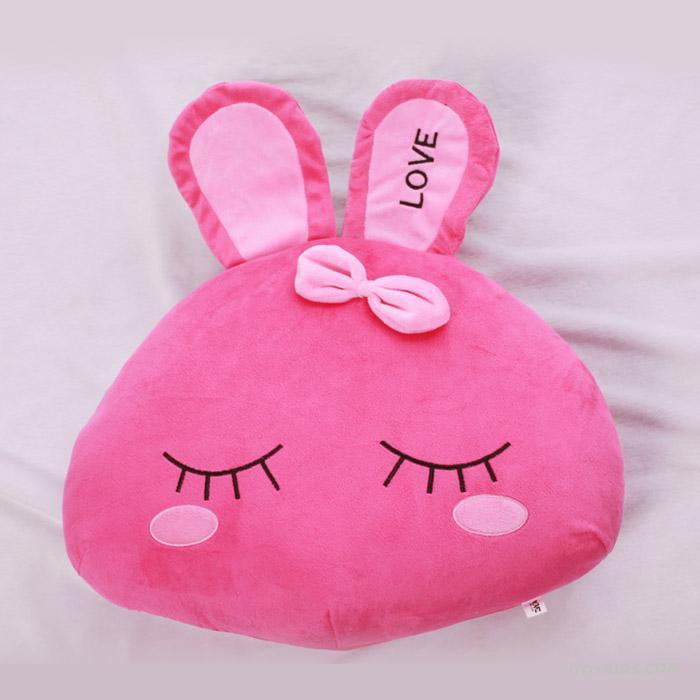 Cute-Love-Rabbit-Pink-Sofa-Pillows-Design-Ideas 21 Unique And Cute Pillows Designs