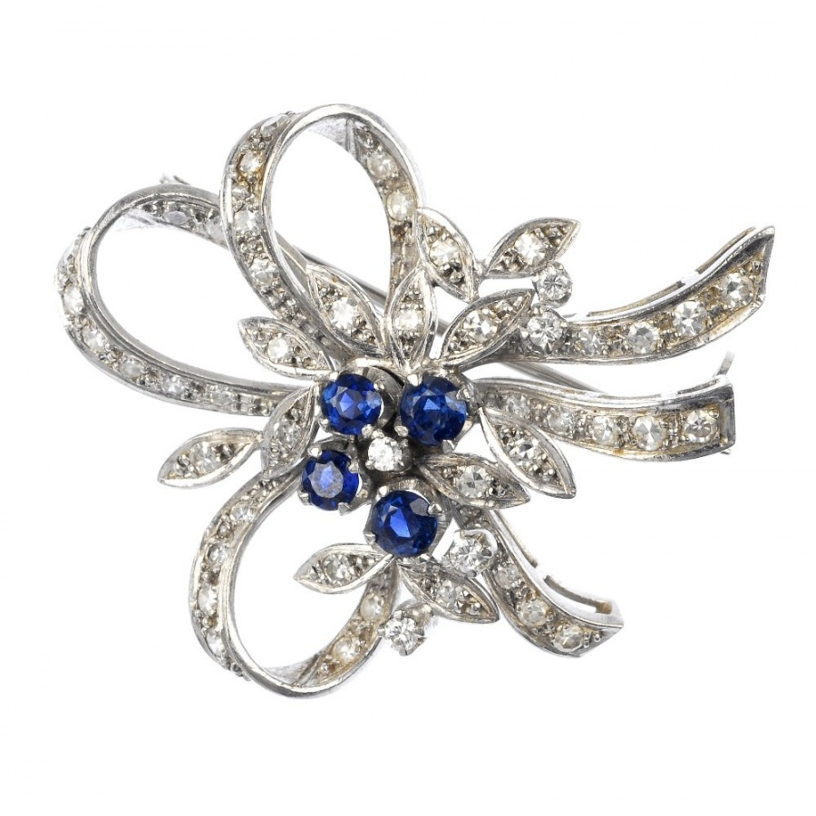 Diamond-and-sapphire-brooch Elegant And Unique Designs Of Brooches