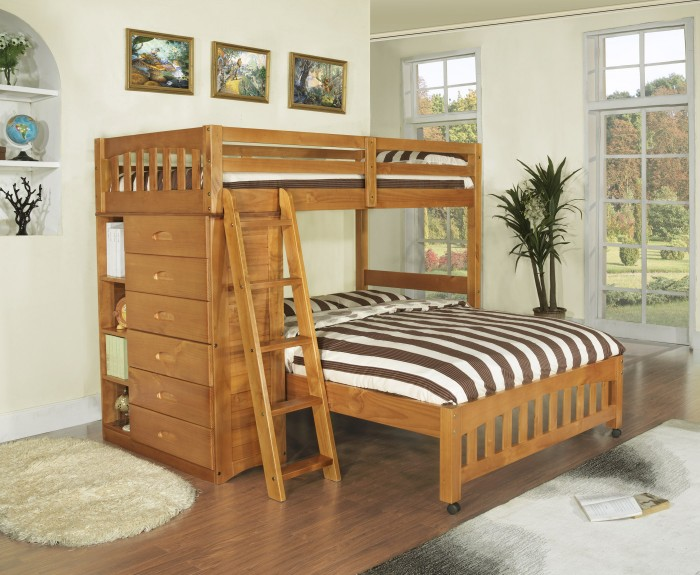 Double-Bunk-Beds-562 Make Your Children's Bedroom Larger Using Bunk Beds