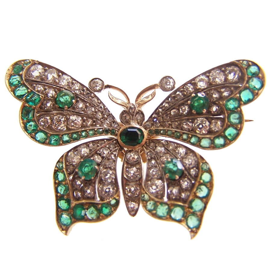 Emerald_and_dia_butterfly_brooch Elegant And Unique Designs Of Brooches