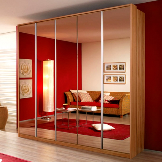 Emotion-Wardrobe-with-Bronze-Mirrors 35+ Modern Designs Of Wardrobes