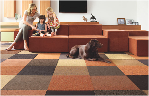 Flor-Carpet-Tiles 8 Tips On Choosing A Carpet For Your Living Room