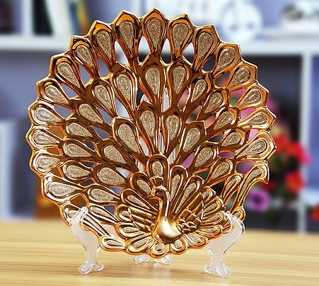 Free-Shipping-Decoration-Ceramic-Peafowl-Plate-Porcelain-with-Gold-Plated-Frosted-Hollow-Out-Carvings-33-33 20 Wonderful Designs Of Ceramic Plates