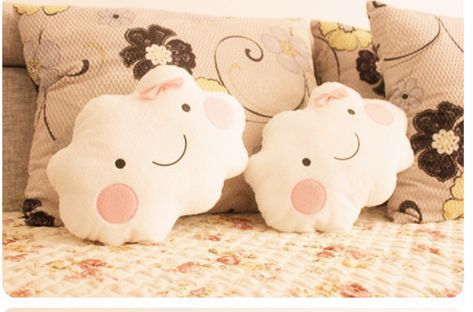 Free-Shipping-by-EMS-Wholesale-Cute-Cartoon-Smiley-Clouds-font-b-Pillow-b-font-Cushion-Lovers 21 Unique And Cute Pillows Designs