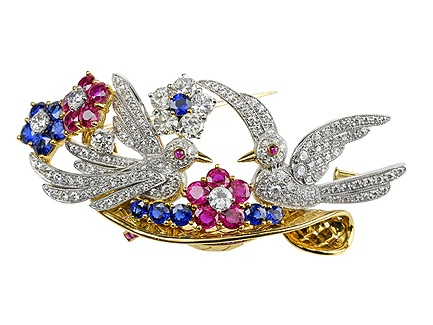 Gem-Brooch-Platinum_755-006 Elegant And Unique Designs Of Brooches