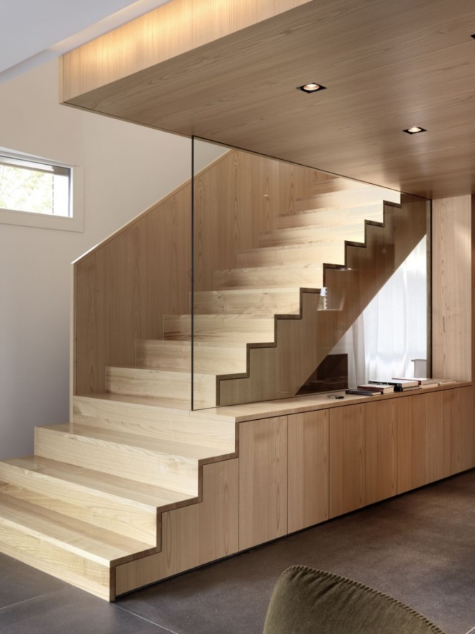 Get-Different-View-Using-Creative-Staircase-Ideas-By-Nimmrichter-Cda-Architects-Interior-Wood-Stairs-Design Turn Your Old Staircase into a Decorative Piece