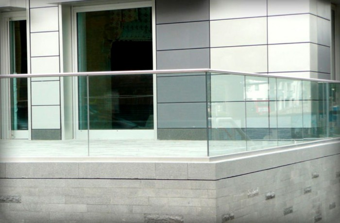 Glass-Balcony-Railing-with-Handrail 60+ Best Railings Designs for a Catchier Balcony