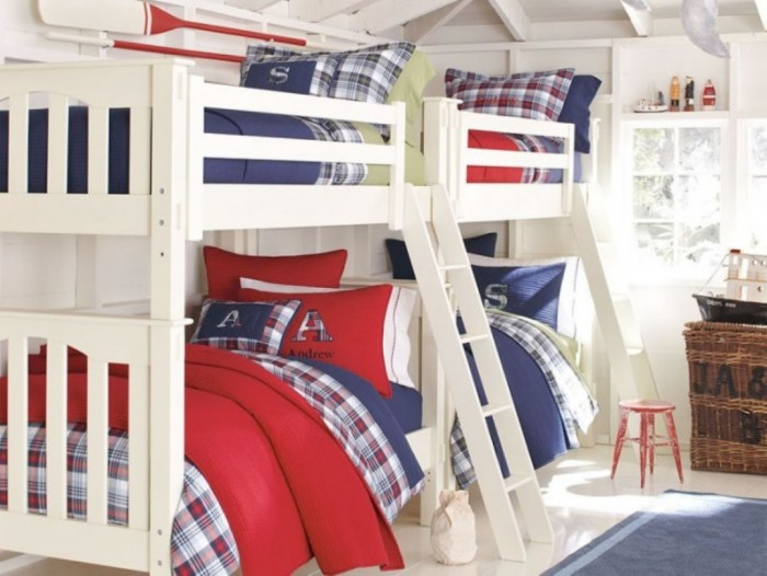 Gorgeous-Bunk-Bed-Boys-Room-Designs-Ideas-Modern-Small-Space-Design Make Your Children's Bedroom Larger Using Bunk Beds