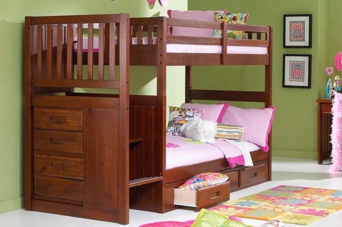 HA_merlot_8833 Make Your Children's Bedroom Larger Using Bunk Beds