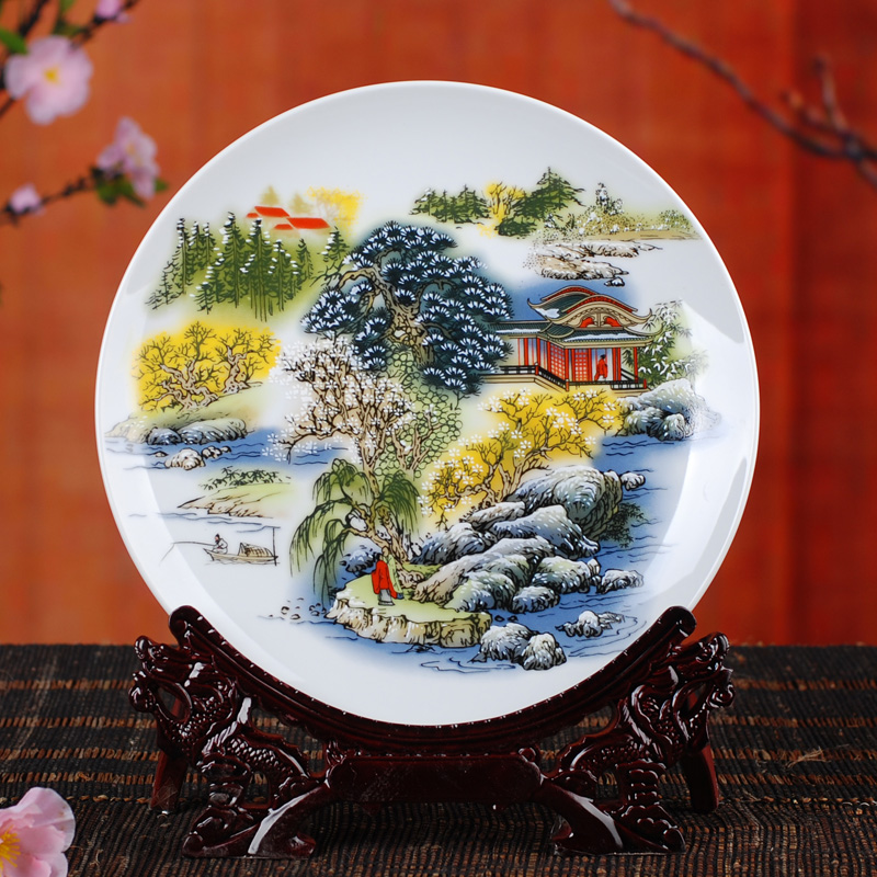 Hanging-font-b-plate-b-font-decoration-font-b-plate-b-font-ceramics-pastels-blue-and 20 Wonderful Designs Of Ceramic Plates