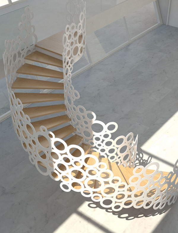 Home-Decorating-Ideas-with-Stunning-Organic-Staircase Turn Your Old Staircase into a Decorative Piece
