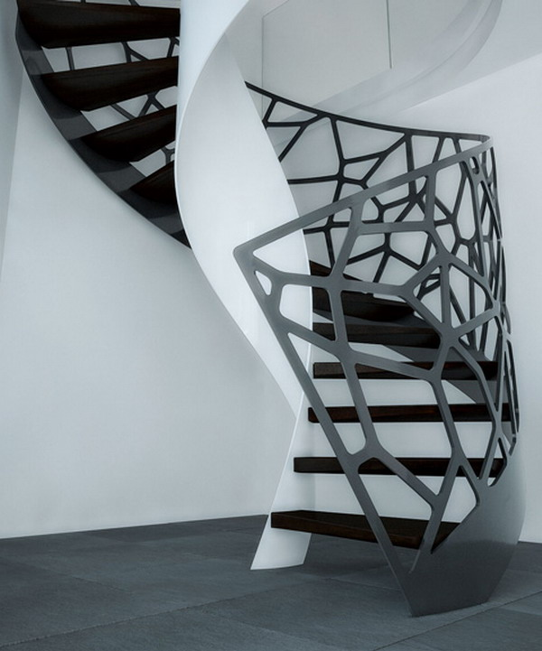 Home-Design-Ideas-with-Black-Organic-Staircase Turn Your Old Staircase into a Decorative Piece