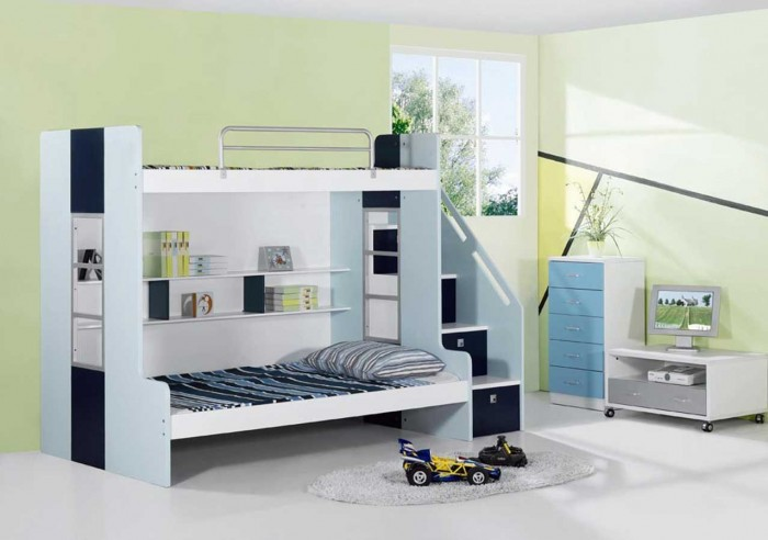 Impressive-Cute-Kids-Bedrooms-Bunk-Bed-Design-listed-in-bedroom-Design-Pictures-Master-Bedroom-Design-subject-also-bedroom-Design-Games-subject- Make Your Children's Bedroom Larger Using Bunk Beds