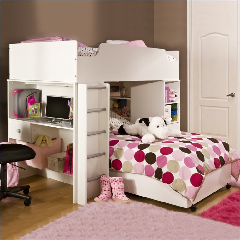 Kids-Bunk-Beds-with-Stairs-and-Desk Make Your Children's Bedroom Larger Using Bunk Beds