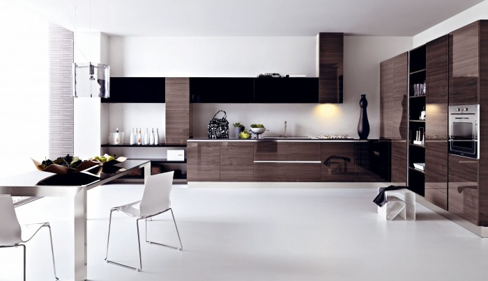Kitchen-design-go-back-to-modern-gloss-grey-pine-kitchen-design 45 Elegant Cabinets For Remodeling Your Kitchen