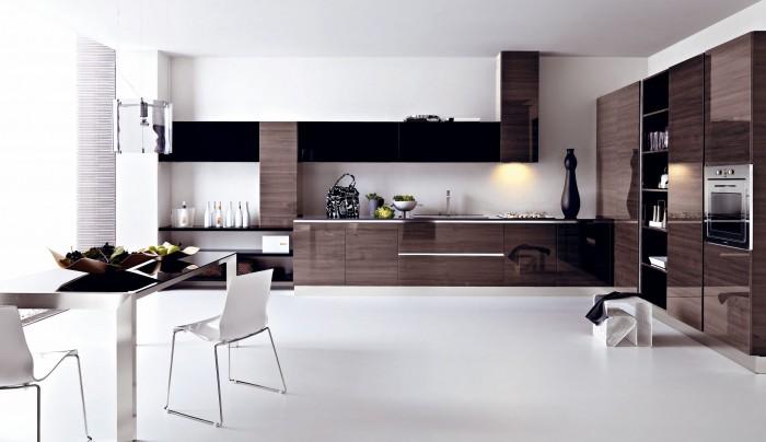 Kitchen-design-go-back-to-modern-gloss-grey-pine-kitchen-design 45 Elegant Cabinets For Remodeling Your Kitchen