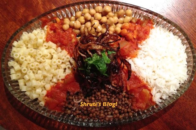"Koshari-2 The National Dish Of Egypt ""Koshary"" With Its Recipe"