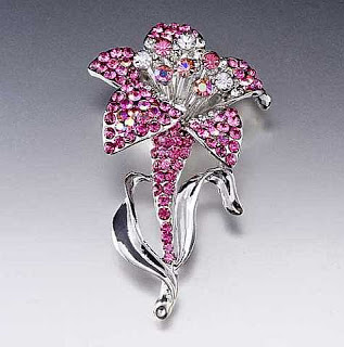 Luxury-Lily-October-Birthstone-Swarovski-Crystal-Brooches Elegant And Unique Designs Of Brooches