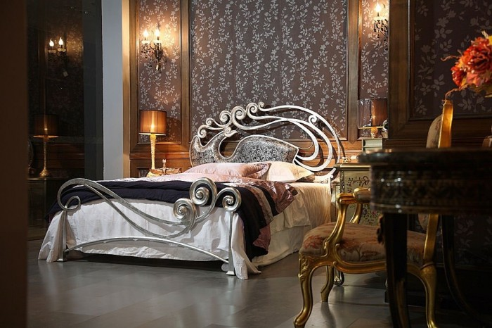 Luxury-Metal-bed-with-charming-Headboard-Phoenix-by-Stylish-1 Luxury Designs For Beds Made Of Metal
