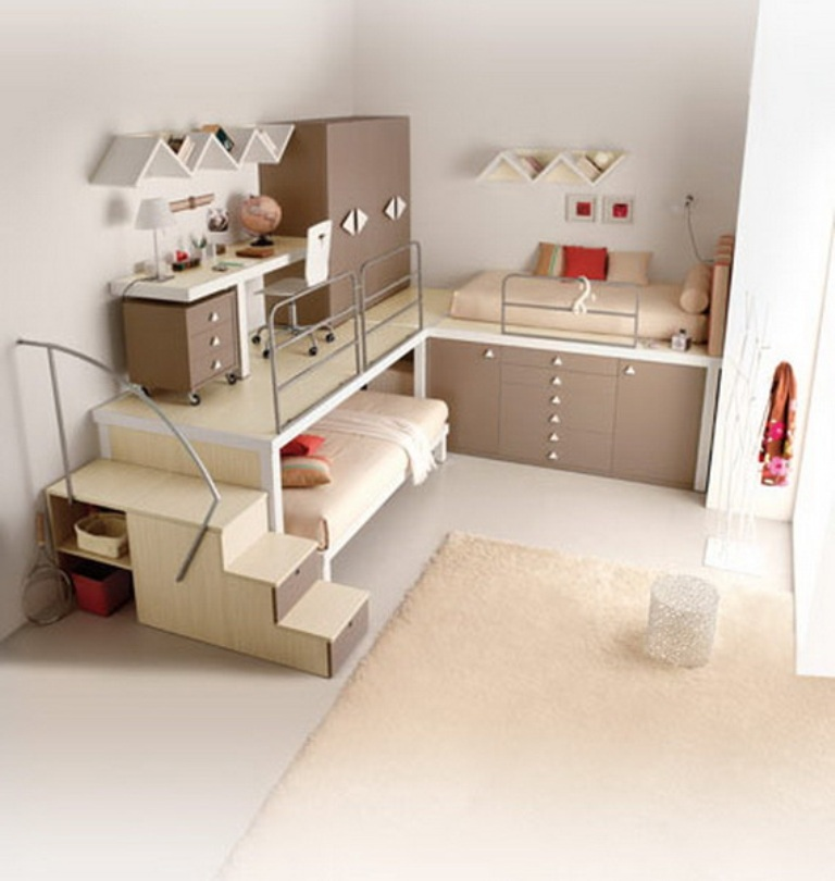 Modern-Bunk-Beds-and-Lofts-for-Teenagers_09 Make Your Children's Bedroom Larger Using Bunk Beds