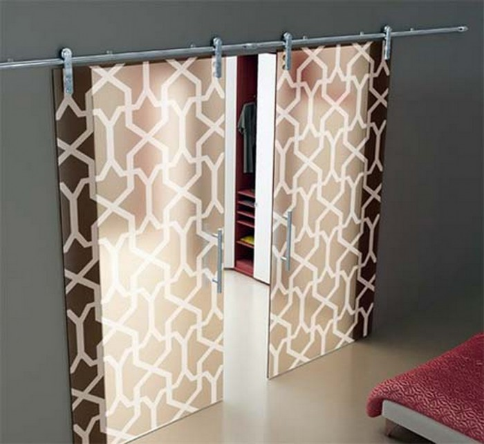 Modern-Interior-Sliding-Glass-Door-Design-Frosted-Foaporte Remodel Your Rooms Using These 73 Awesome Interior Doors