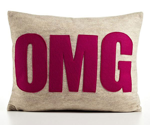 Modern-OMG-Pillow-Created-by-Recycled-Bottles-Felt-and-Filled-with-Recycled-Polyester 21 Unique And Cute Pillows Designs