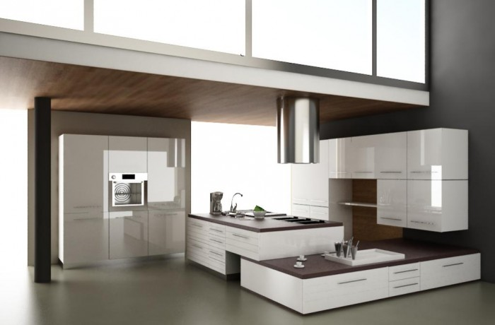 Modern-kitchen-design-white-furniture400 45 Elegant Cabinets For Remodeling Your Kitchen