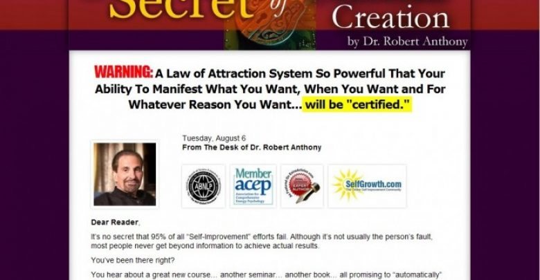 Photo of Dr. Robert Anthony Powerful System to Control Your Life and Get Unstuck Forever!