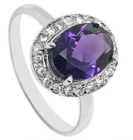 PersonalizedCocktailRingsAmethystCubicZirconiaTwo-TonePurpleSilverLoveCheapLS94244-0 15 Interesting Tips For Choosing Jewelry
