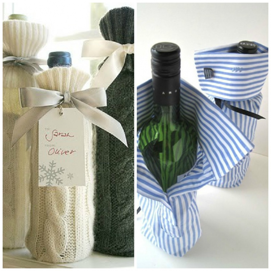 Repurposed-Clothing-Gift-Wrap 35 Creative and Simple Gift Wrapping Ideas