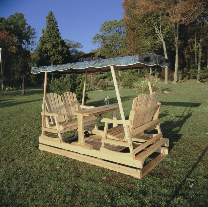 Rustic-log-swings-and_Gliders-Deluxe-Garden-Glider-L 13 Impressive Rustic Garden Style With Its Attractive Elements