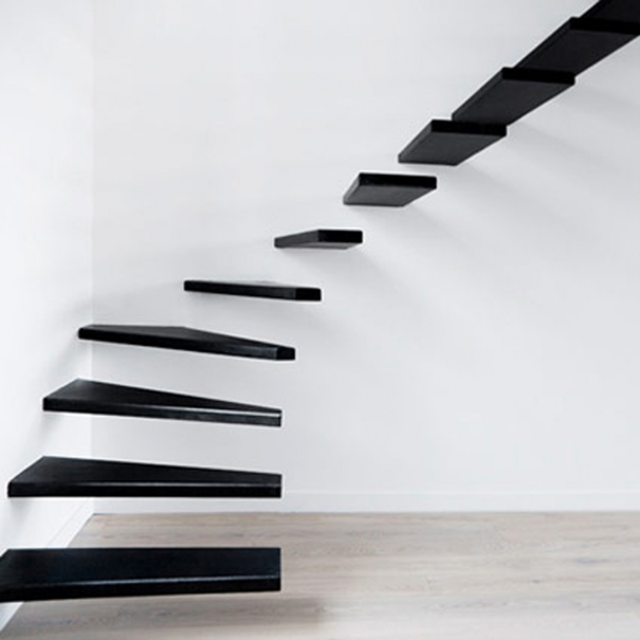 Staircase-design-inspiration-minimalist-sectional-staircase-design Turn Your Old Staircase into a Decorative Piece