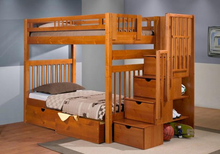 Stairway-Bunk Make Your Children's Bedroom Larger Using Bunk Beds