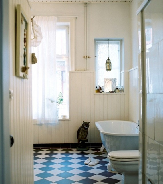 Swedish-Home-Vintage-Bathroom-Designs-Ideas-570x645 16 Stunning Designs Of Vintage Bathroom Style