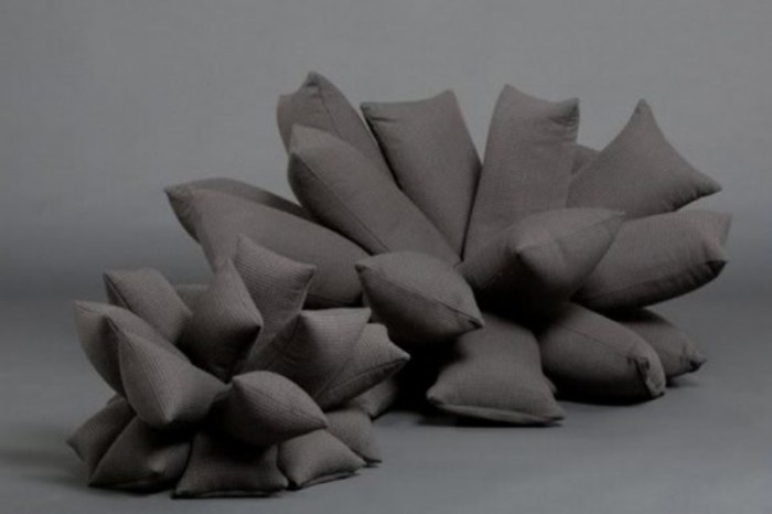 The-gray-sofas-comes-with-2-different-size-and-shape 50 Creative and Weird Sofas for Your Home