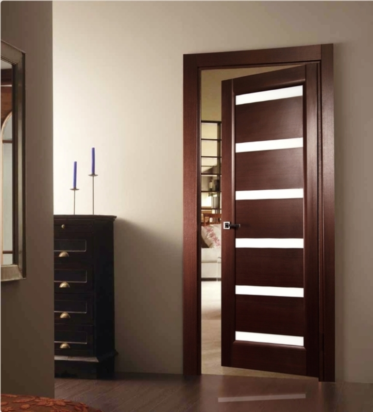 Tokio-Glass-Modern-Interior-Door-Wenge-Finish Remodel Your Rooms Using These 73 Awesome Interior Doors