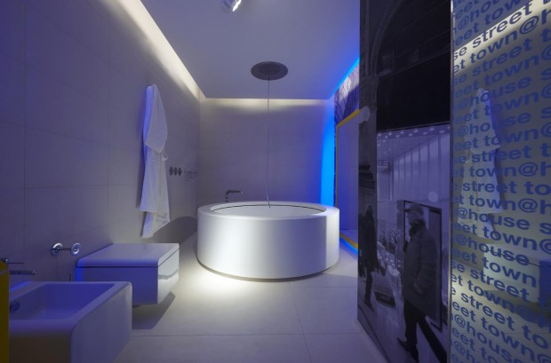 Unique-Bathroom-with-Hi-Tech-Design-620x409 14 Amazing Interior Designs In High-Technology Style