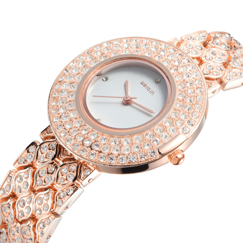 Weiqin-fashion-full-rhinestone-gold-plated-luxury-fashion-watches-women-s-dresses-bracelet-watch-free-shipping 24 Most Luxury Watches For Women And How To Choose The Perfect One?!
