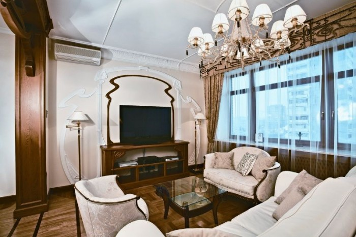 apartment-living-room-view-floral-ornament-designed-by-Daria-Grigorieva- Your Apartment Will Look Wonderful In The Classical Style