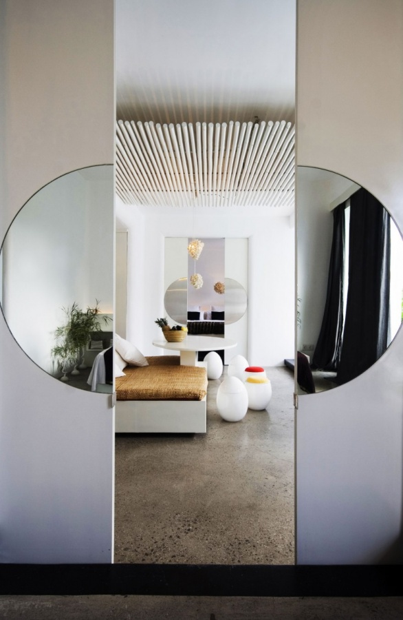 awesome-bedroom-white-interior-with-sliding-door. Remodel Your Rooms Using These 73 Awesome Interior Doors