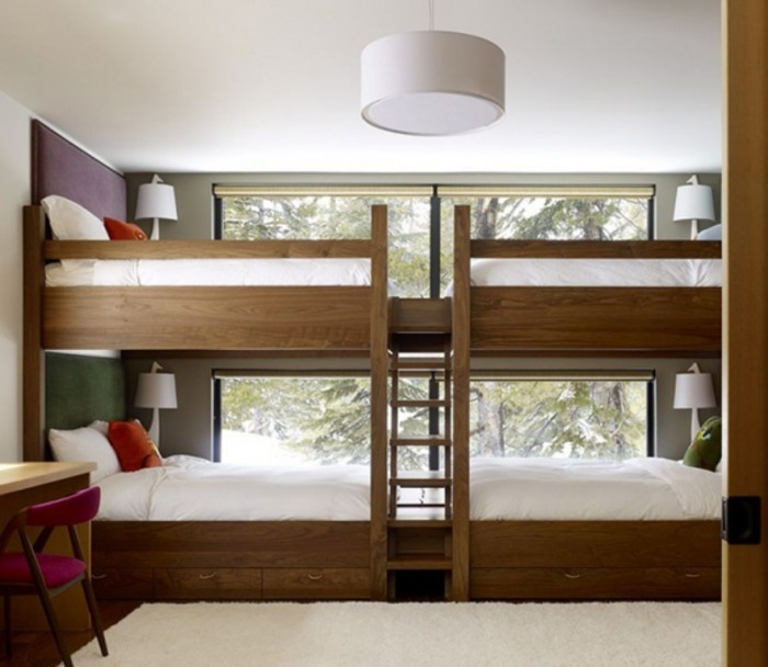 awesome-bunk-bed-kids-large-bunk-bed-for-four-1 Make Your Children's Bedroom Larger Using Bunk Beds
