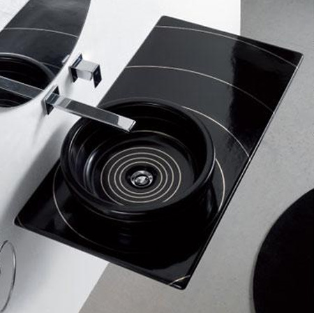 black-bathroom-sink 17 Modern Designs Of Bathroom Sinks