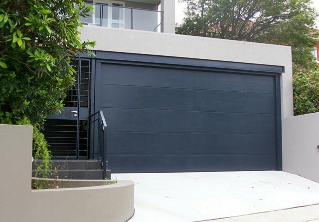black-roller-garage-door9 Modern Ideas And Designs For Garage Doors