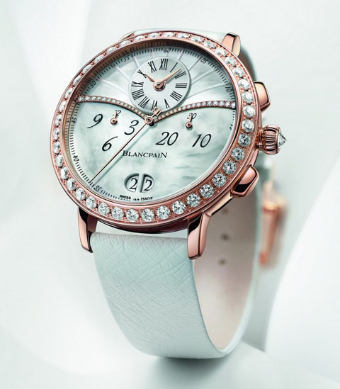 4735b180a0390 blancpain_chronograph_large_date_luxury_womens_watch 24 Most Luxury Watches  For Women And How To Choose The Perfect One?