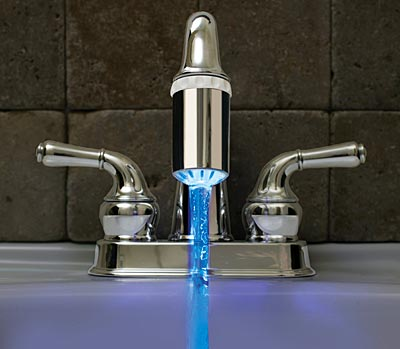 blue-led-faucet 32 Creative Sink Faucets In Contemporary And Modern Designs