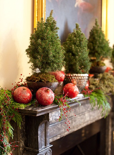 christmas-decorating-ideas-for-fireplace Tips With Ideas Of Decorations For Christmas Celebrations